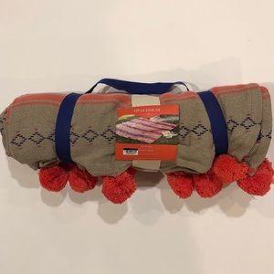 Opalhouse Pompom Decorative Throw Blanket